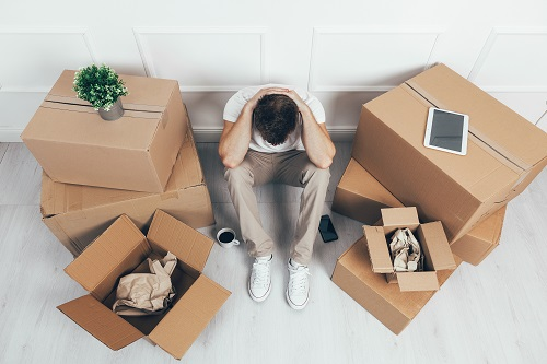 self packing for local move into a new home can be stressful